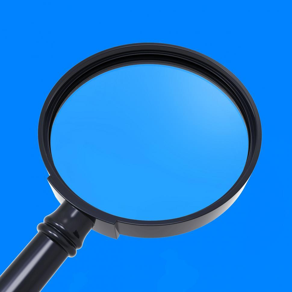 Download Free Stock Photo of Magnifying Glass Shows Zoom Or Search