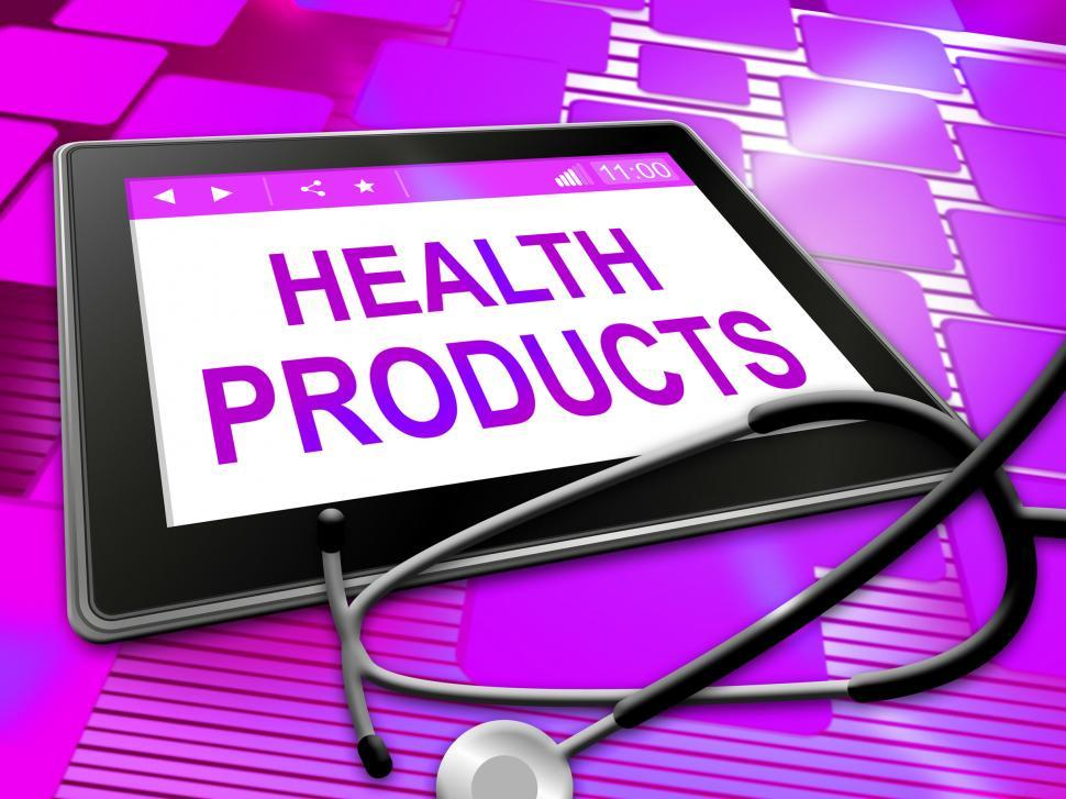 Download Free Stock HD Photo of Health Products Means Medicine Store And Wellness Online