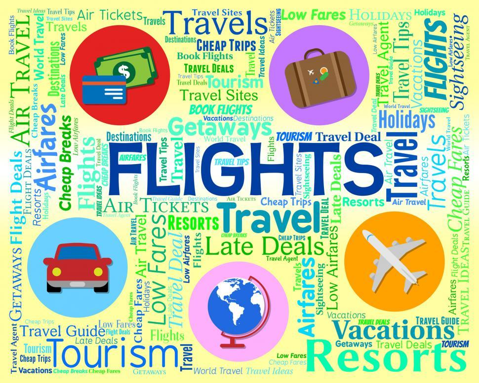Download Free Stock Photo of Flights Word Indicates Vacation Aeroplane And Abroad