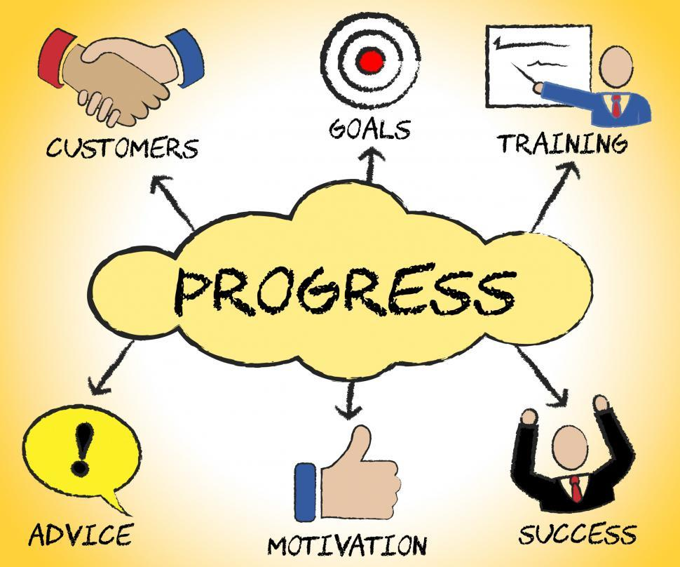 Download Free Stock HD Photo of Progress Symbols Shows Betterment Headway And Advancement Online