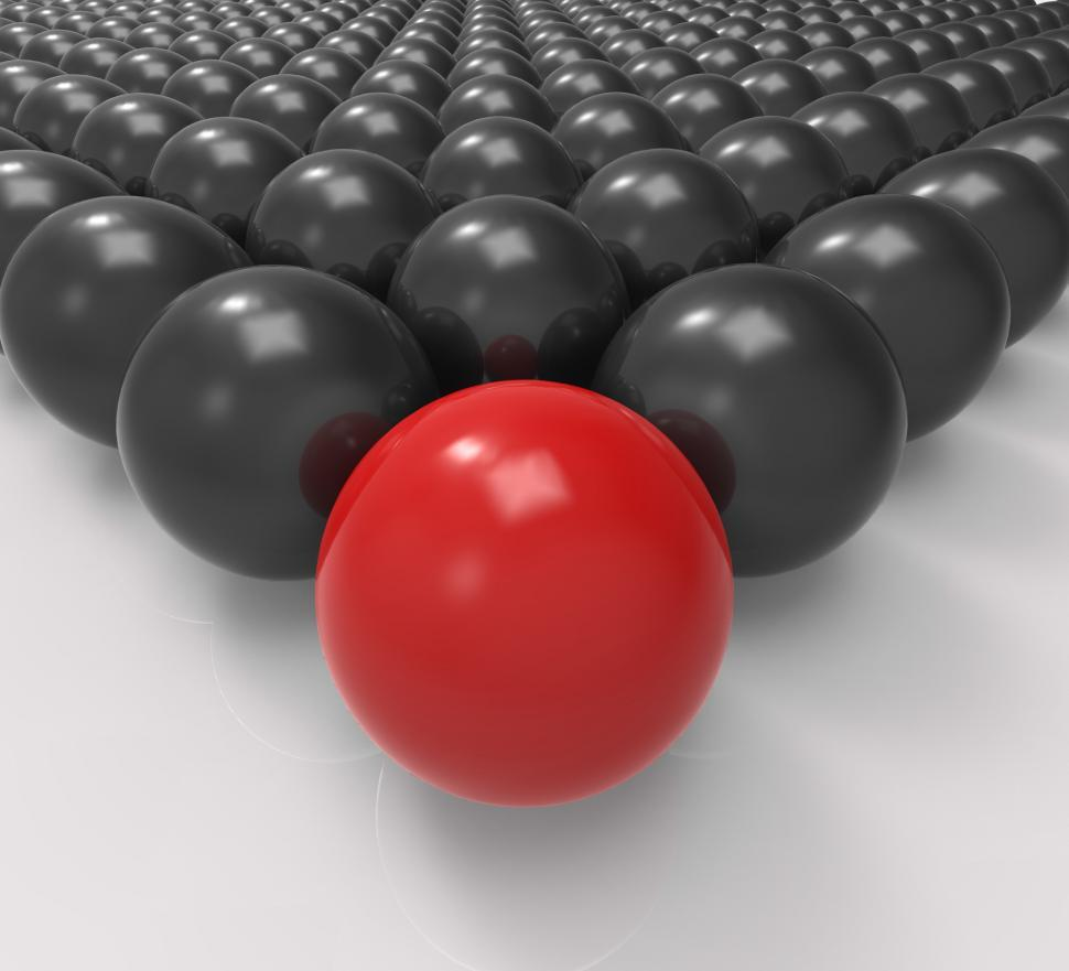 Download Free Stock HD Photo of Leading Metallic Ball Shows Leadership Or Acheiving Online