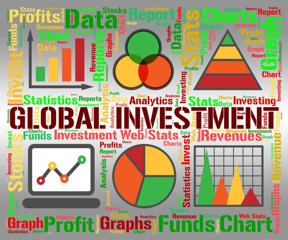 Download Free Stock HD Photo of Global Investment Shows Globalization Globalise And Shares Online