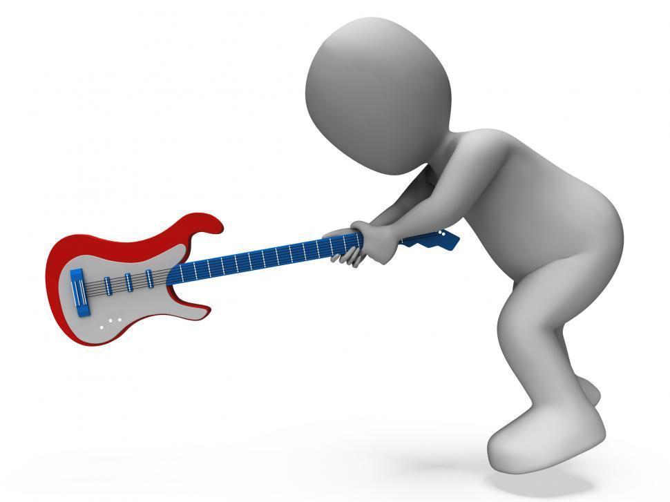 Download Free Stock Photo of Angry Aggressive Guitarist Smashing Guitar Shows Rocker Rock Mus