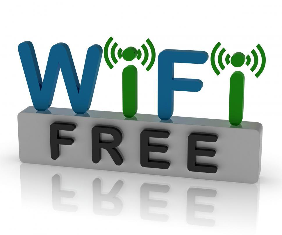 Download Free Stock HD Photo of Free Wifi Shows Internet Connection And Mobile Hotspot Online