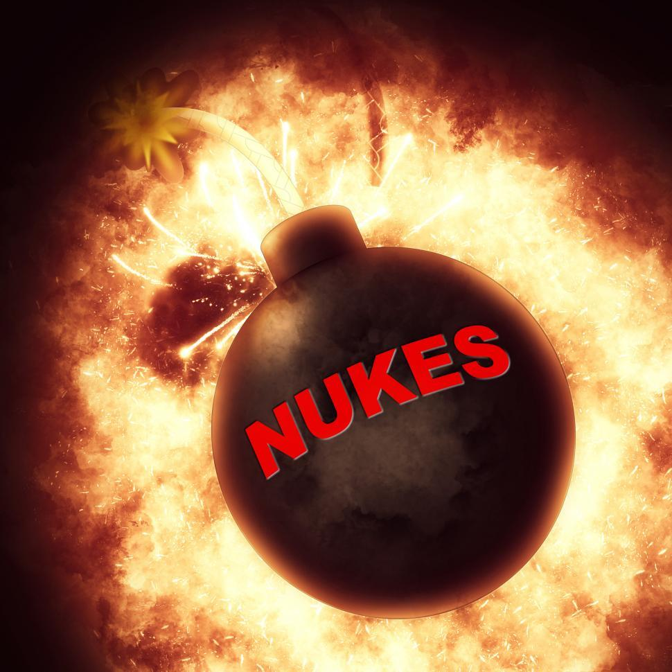 Download Free Stock HD Photo of Nuclear Bomb Indicates Explosive Atom And Apocalypse Online