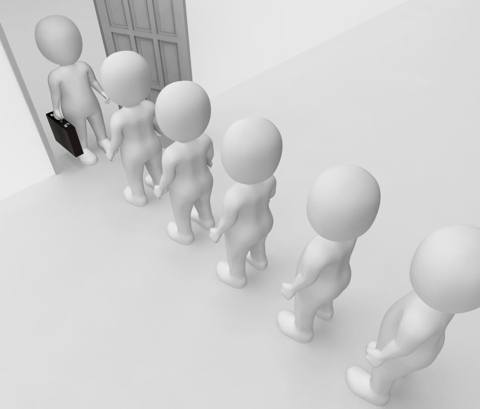 Download Free Stock Photo of Office Characters Indicates Business Person And Employee 3d Rend