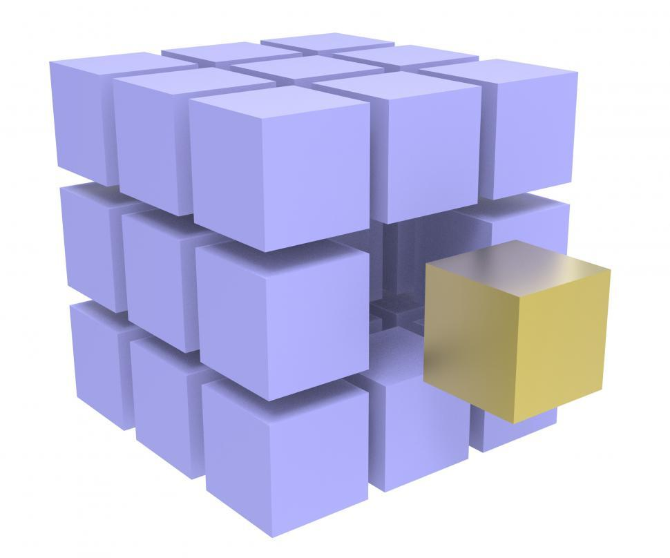 Download Free Stock HD Photo of Individual Block Means Different Or Outsider Online