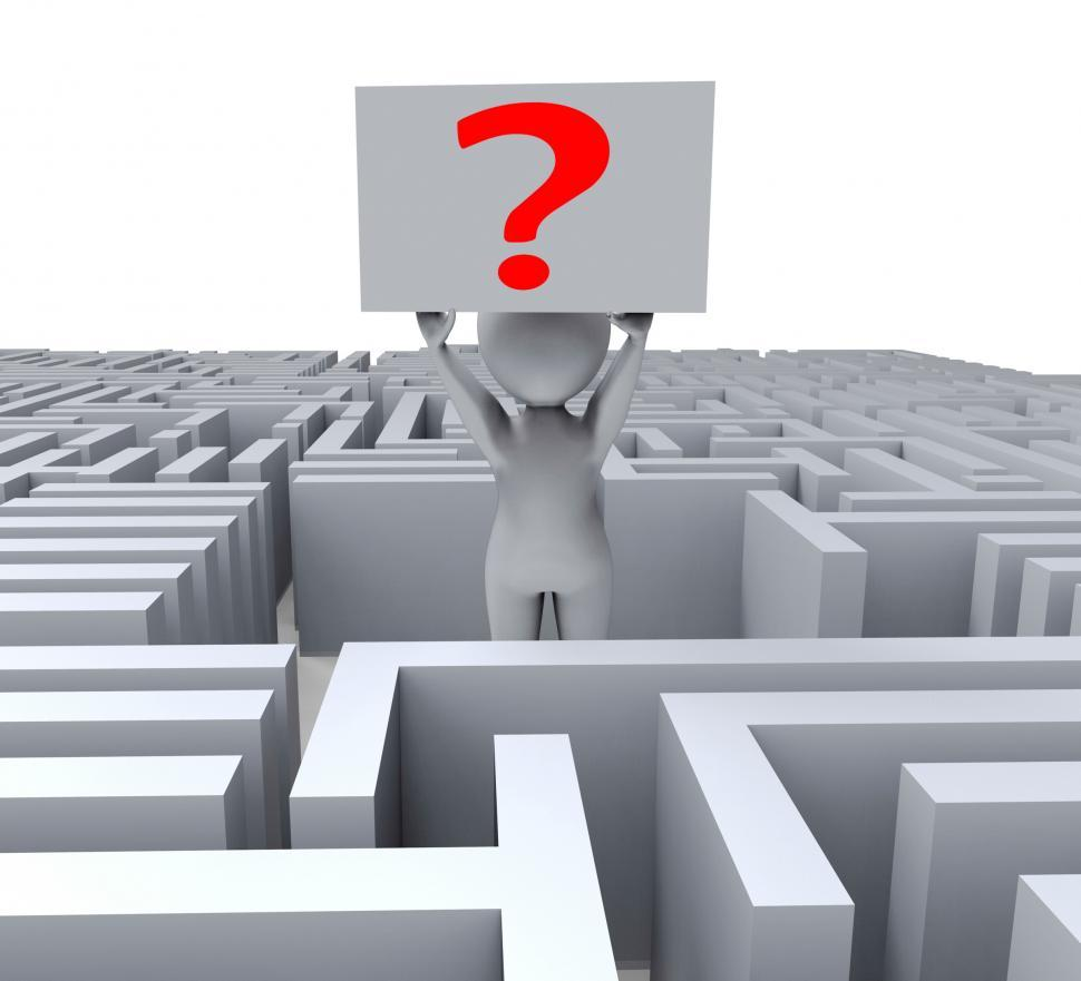 Download Free Stock HD Photo of Question In Maze Shows Confusion Online