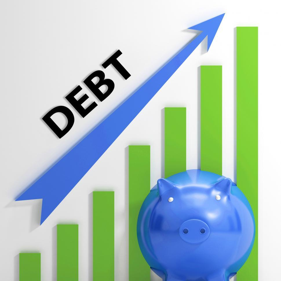Download Free Stock Photo of Debt Graph Shows Bills Deficit And Borrowing