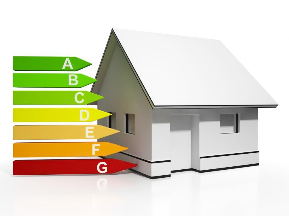 Download Free Stock HD Photo of Energy Efficiency Rating And House Showing Conservation Online