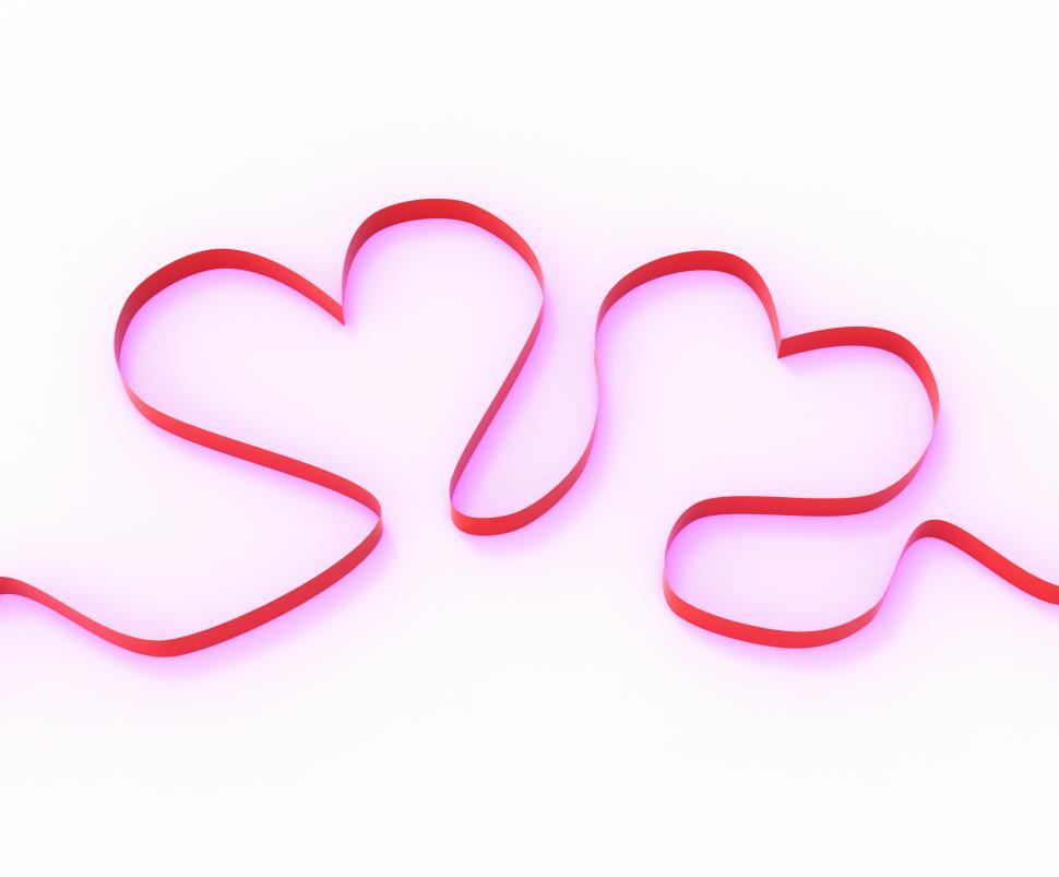 Download Free Stock HD Photo of Ribbon Hearts Mean Romantic Anniversary Present Or Affection Gif Online