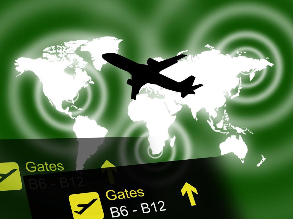 Download Free Stock HD Photo of International Flight Indicates Globalisation Transport And Trave Online