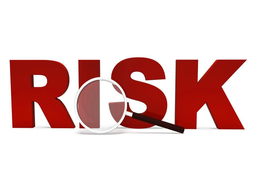 Download Free Stock HD Photo of Risk Word Shows Unstable Hazard Or Risky Online