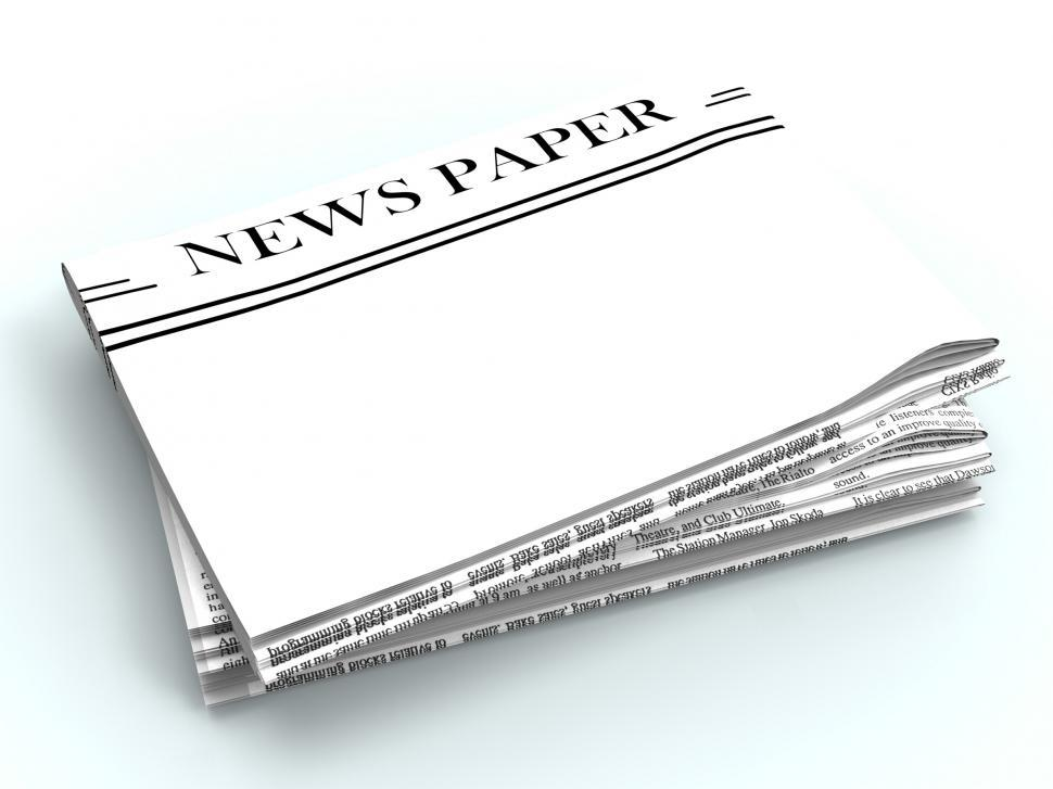 Download Free Stock Photo of Blank Newspaper With Copyspace Shows News Media Headline Space