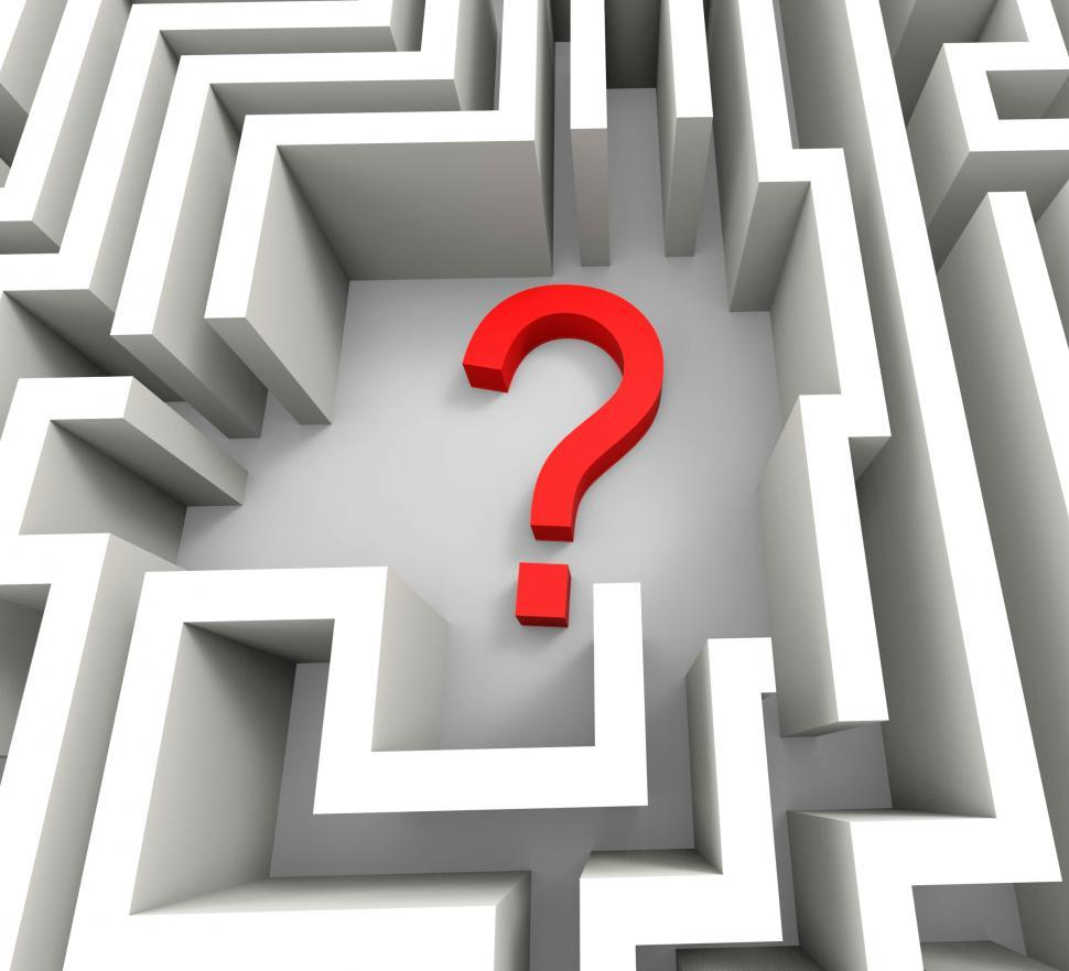 Download Free Stock HD Photo of Question Mark In Maze Shows Thinking Online