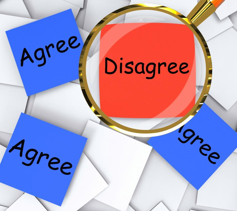 Download Free Stock Photo of Agree Disagree Post-It Papers Mean Agreeing Or Opposing
