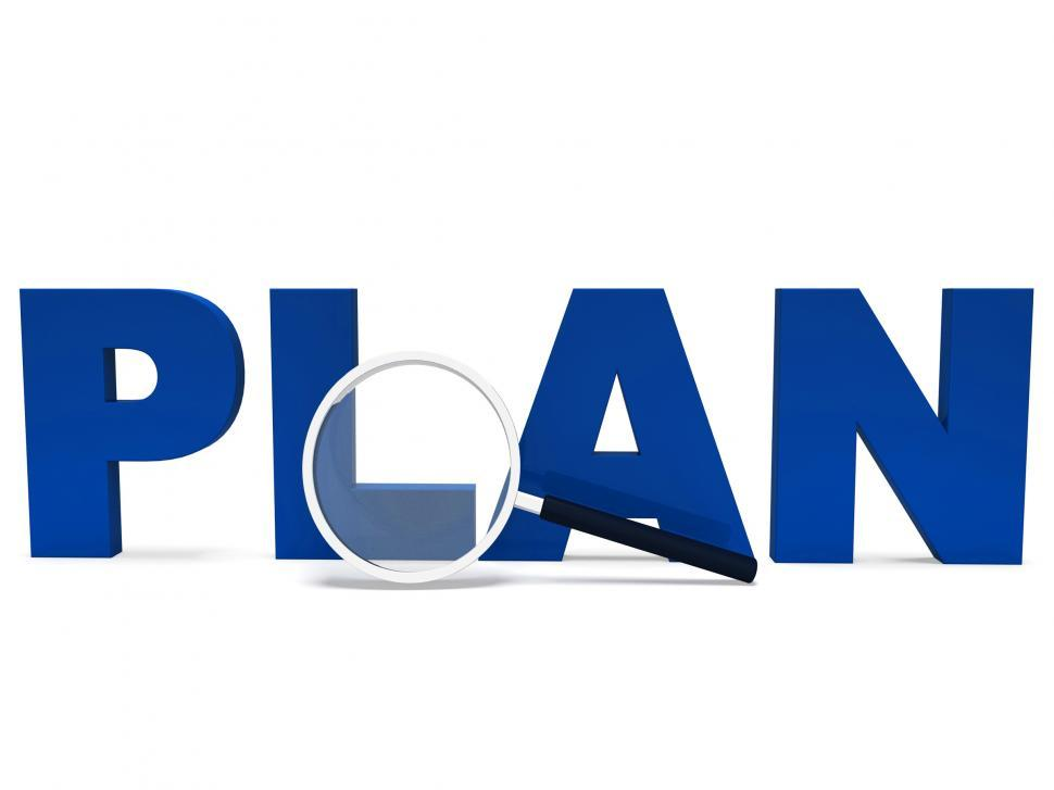 Download Free Stock HD Photo of Plan Word Shows Plans Planned Planning And Aims Online