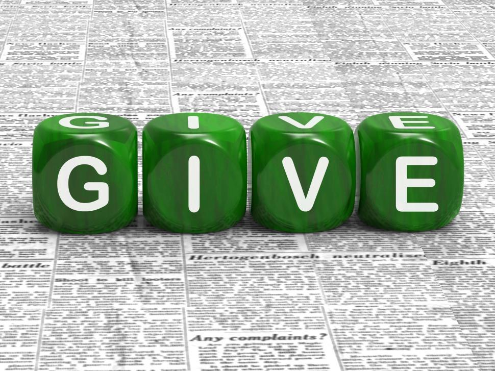 Download Free Stock Photo of Give Dice Mean Contribute Donate Or Bestow