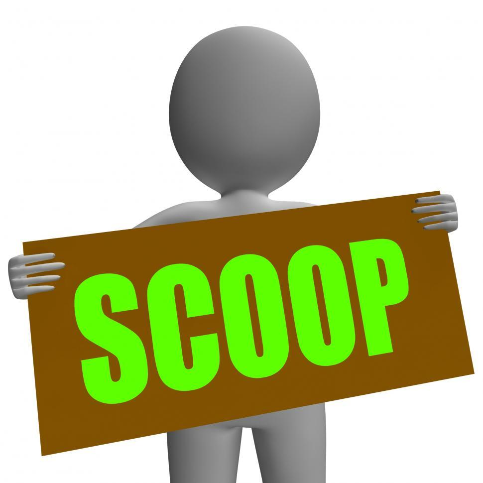 Download Free Stock Photo of Scoop Sign Character Means Gossipmonger Or Intimate Tatter