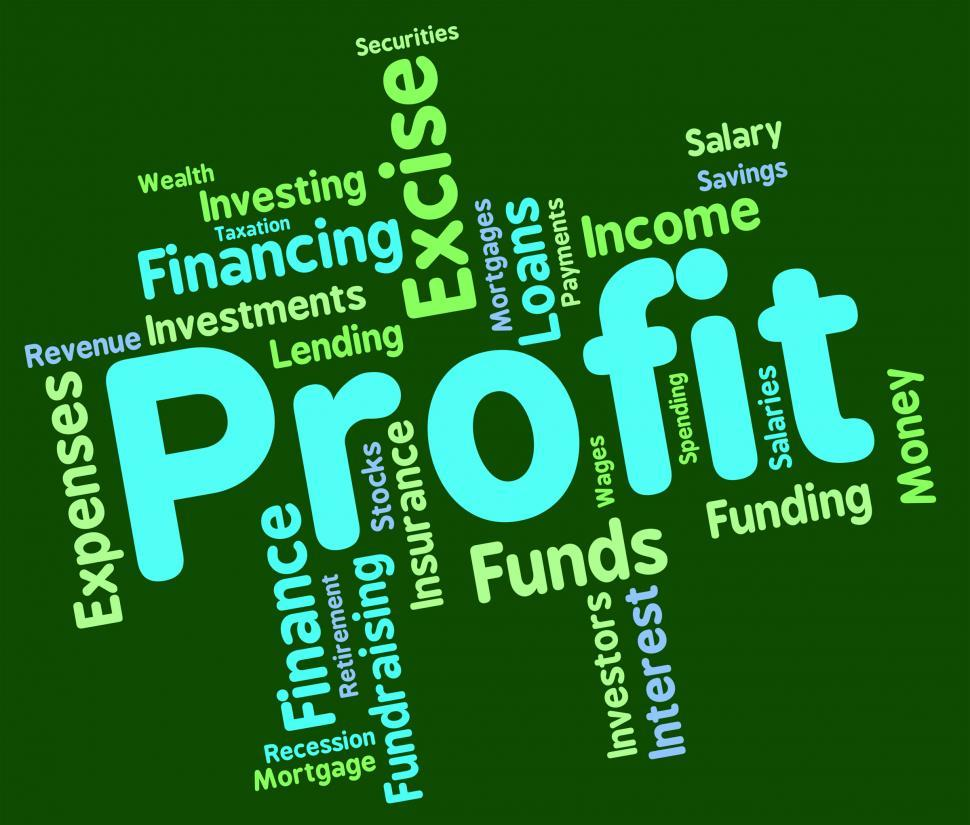 Download Free Stock HD Photo of Profit Word Represents Text Profits And Words Online