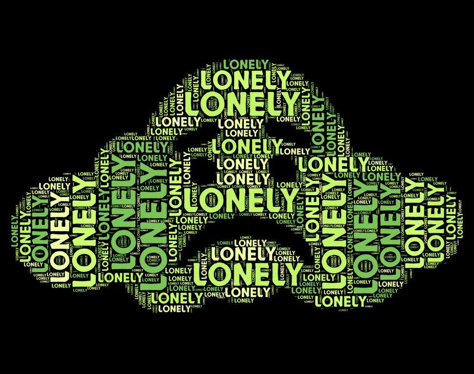Download Free Stock Photo of Lonely Word Represents Wordclouds Abandoned And Text