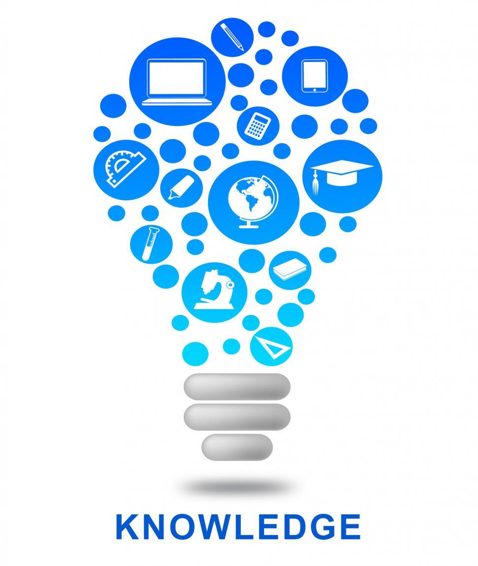 Download Free Stock HD Photo of Knowledge Lightbulb Shows Know How And Wisdom Online