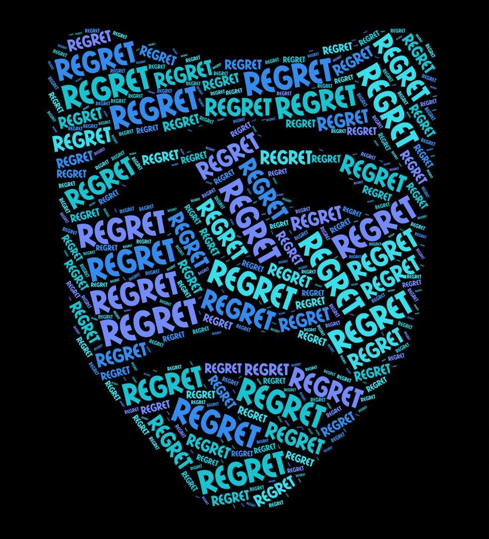 Download Free Stock HD Photo of Regret Word Shows Sorry Regrets And Wordclouds Online