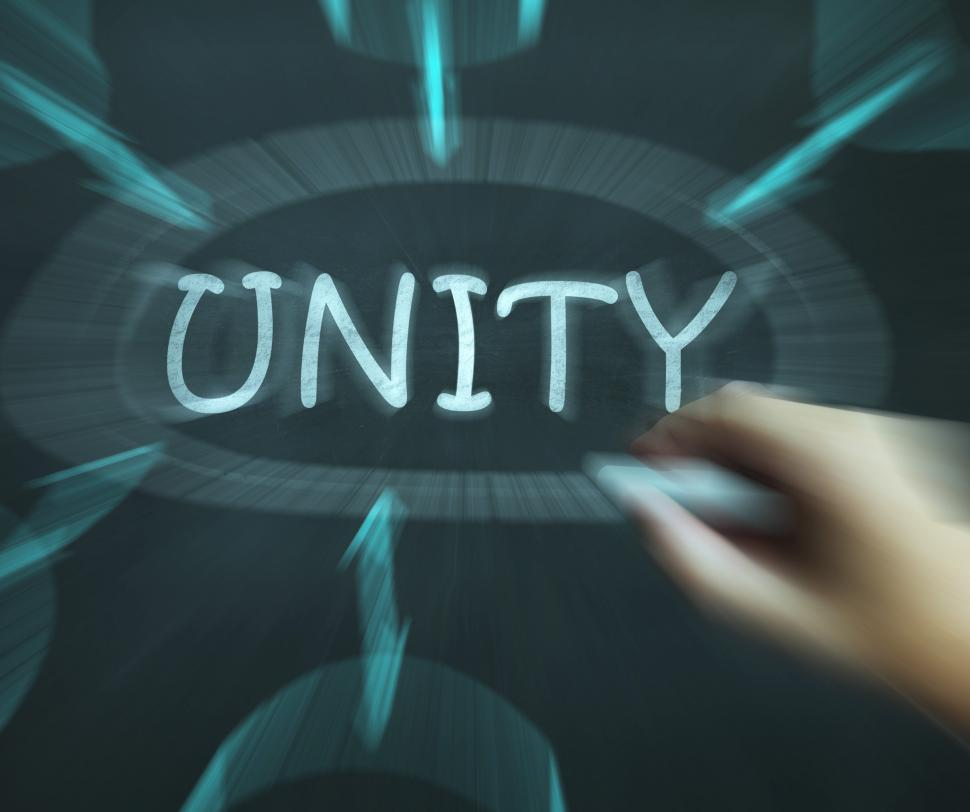 Download Free Stock Photo of Unity Diagram Means Working As Team And Cooperation