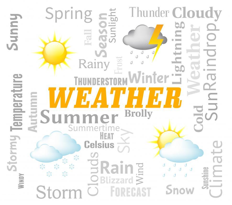 Download Free Stock Photo of Weather Forecast Indicates Meteorological Conditions And Forecas