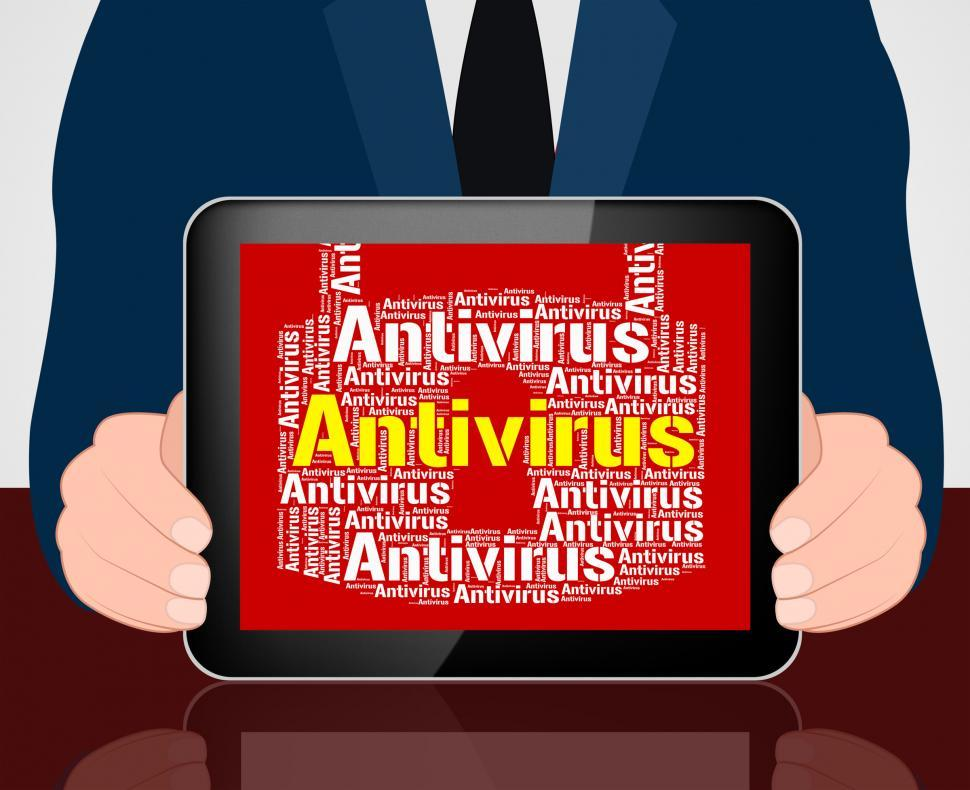 Download Free Stock Photo of Antivirus Lock Means Malicious Software And Infected