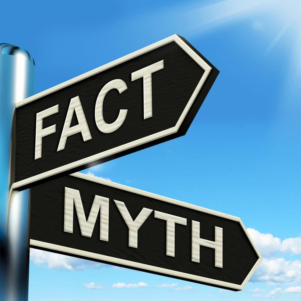 Download Free Stock HD Photo of Fact Myth Signpost Means Correct Or Incorrect Information Online