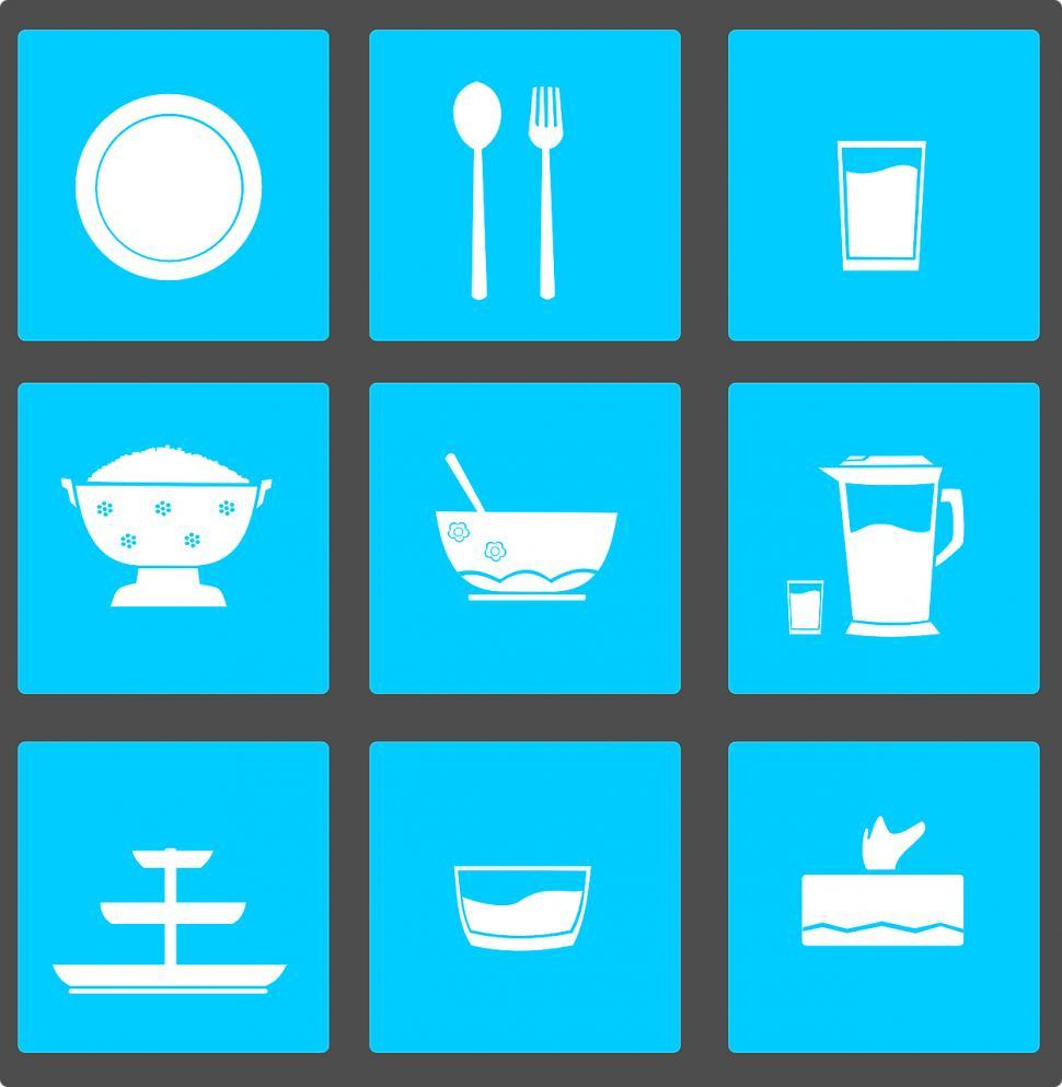 Download Free Stock Photo of Food icons