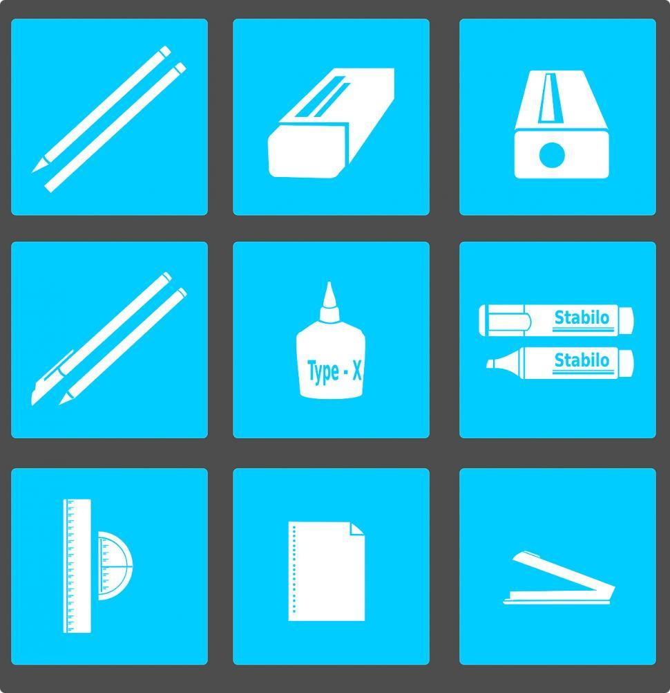 Download Free Stock Photo of Office icons