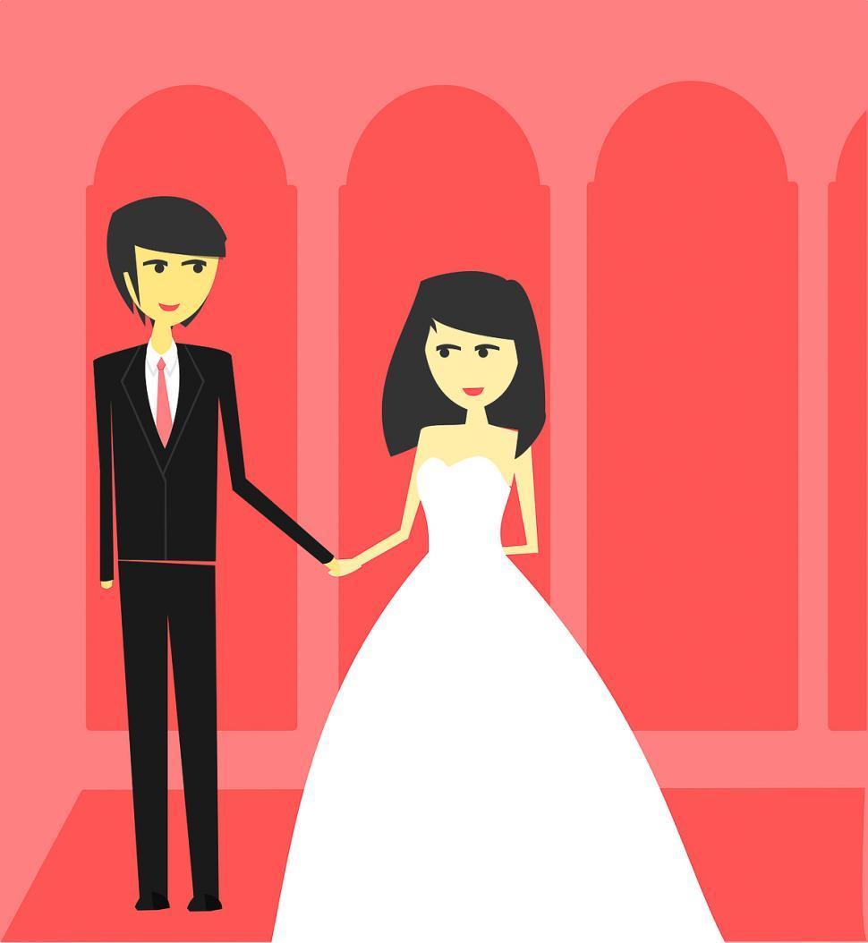Download Free Stock Photo of Wedding couple