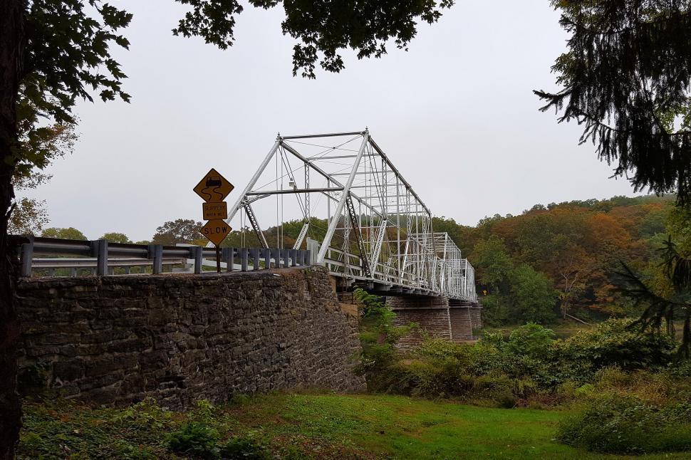 Download Free Stock HD Photo of Dingmans Ferry Steel Bridge Online