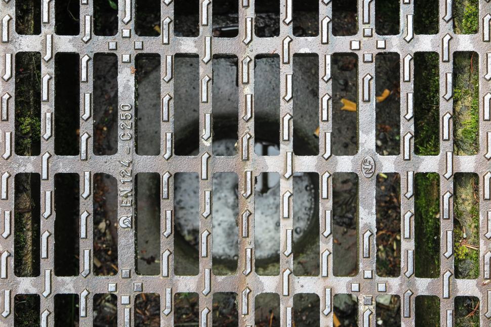 Download Free Stock Photo of Metal grate pattern