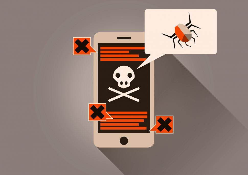 Download Free Stock HD Photo of Infected Smartphone - On-Line Security Threat Online