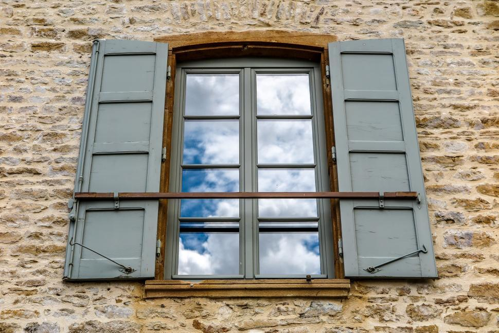 Download Free Stock HD Photo of Clouds in the window Online