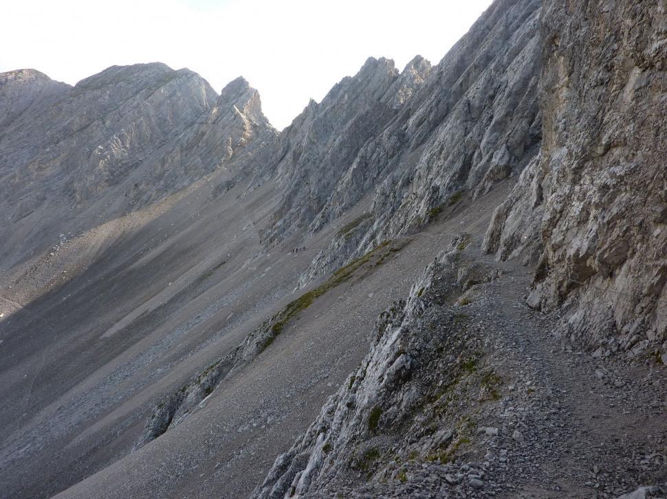 Download Free Stock HD Photo of Alpine hiking trail Goetheweg  Online