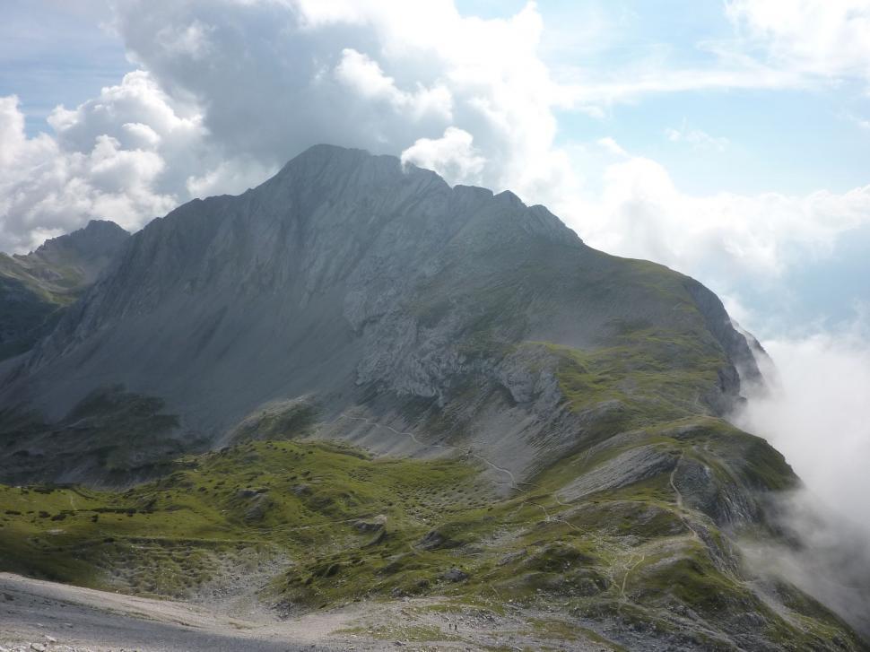 Download Free Stock HD Photo of Alpine hiking trail near Rumerspitze  Online