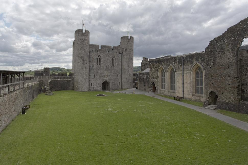 Download Free Stock Photo of Caerphilly castle keep