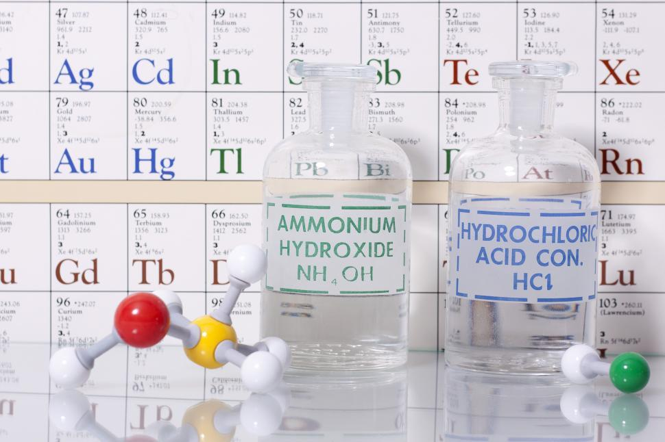 Download Free Stock HD Photo of Acid and base solutions with structures Online