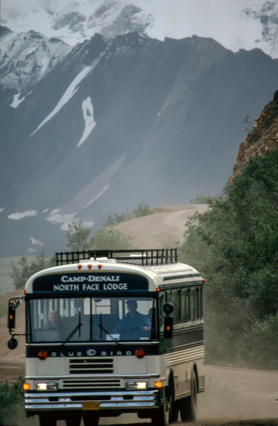 Download Free Stock Photo of Camp -Denali Bus at Denali National Park