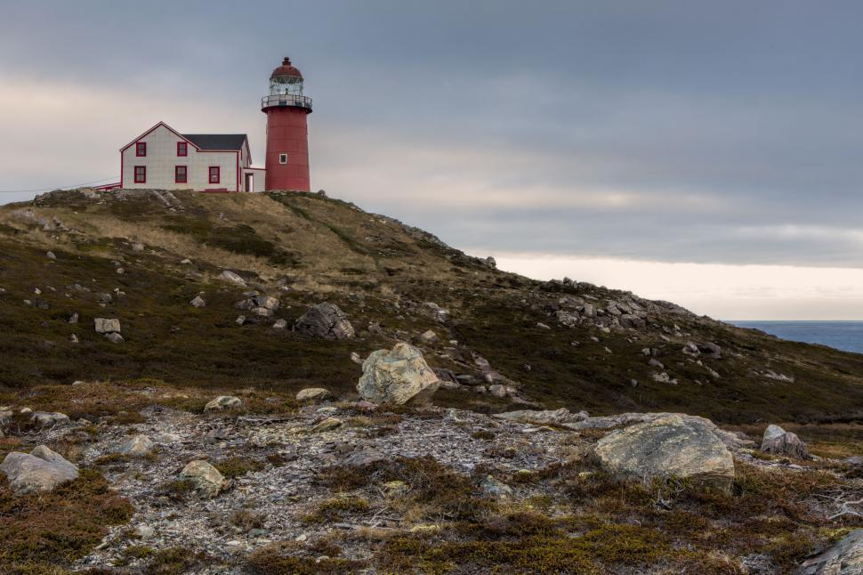 Download Free Stock HD Photo of Rocks and lighthouse Online