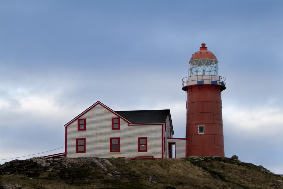 Download Free Stock HD Photo of Lighthouse with red tower Online
