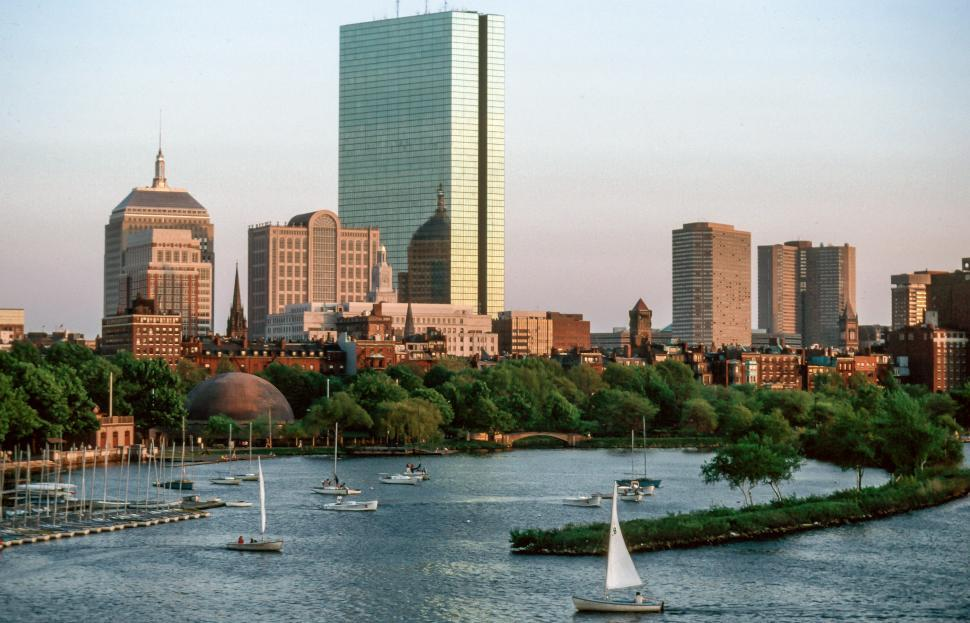 Download Free Stock HD Photo of Sailboats in Charles river Online