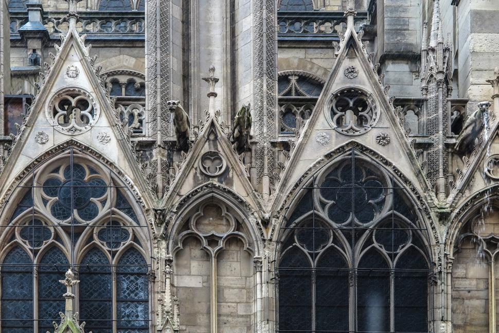 Download Free Stock Photo of Ornate Notre Dame cathedral