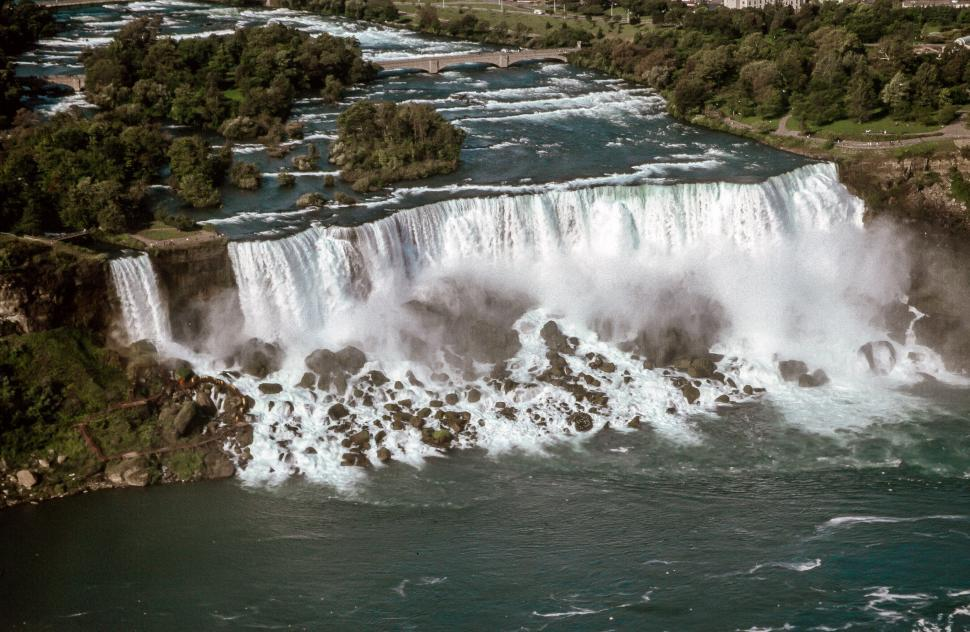 Download Free Stock HD Photo of American Falls and Bridal Veil Falls Online