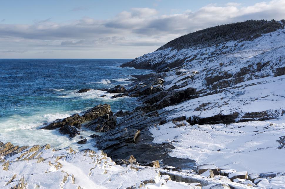 Download Free Stock Photo of Atlantic ocean in winter