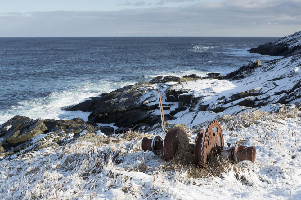 Download Free Stock Photo of Winter coastal landscape